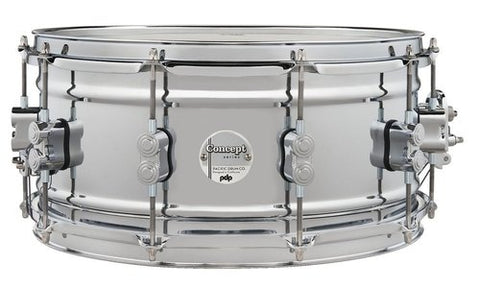 "PDP Concept Metal Chrome over Steel 14x6.5"" PDSN6514SSCSC Snare Drum"