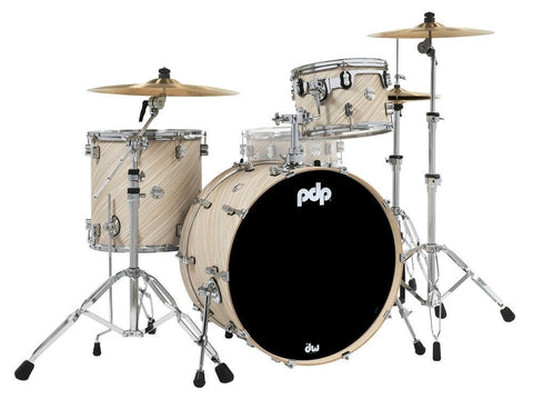 "PDP by DW PDCM24RKTI Concept Maple 24x14 ""BD, 13x9"" TT, 16x16 ""FT Twisted Ivory 24"" Rock Drum Kit"