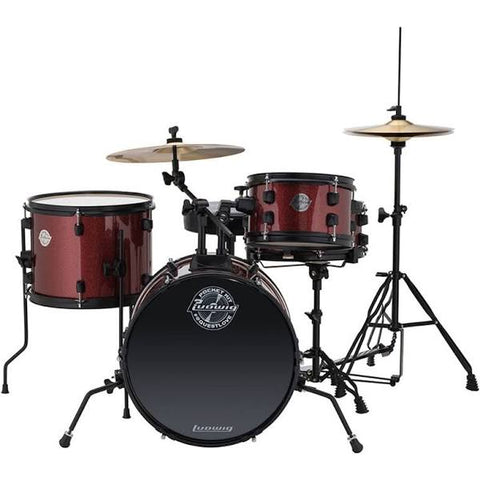 Ludwig Questlove Pocket LC178X025 Red Drum Kit (Inc Free Online Drum Lesson)