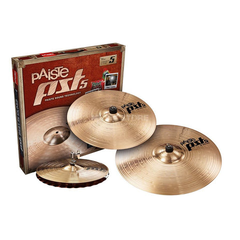 Paiste PST 5 Series Rock Box Set  (14HH / 16CR / 20RD)