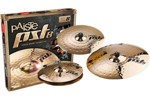 "Paiste PST 8 Reflector Universal cymbal Set 14""HH, 16""C, 20""R PST8BS3USET"