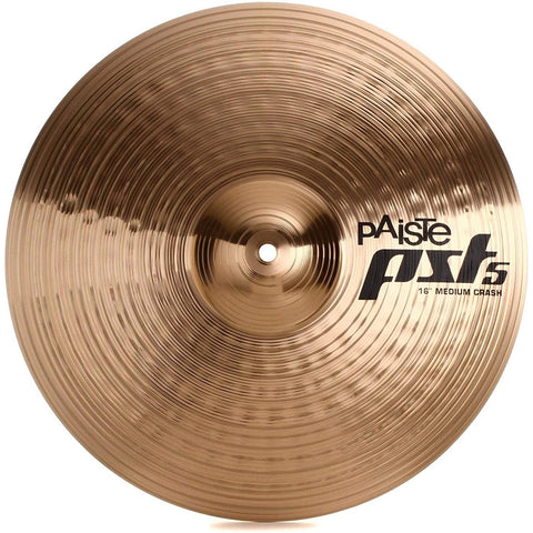 "Paiste PST 5 Series 16"" Medium Crash Cymbal PST5NMCR16"