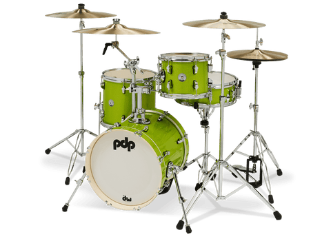 PDP New Yorker Drum Kit (Shells Only) Electric Green Sparkle