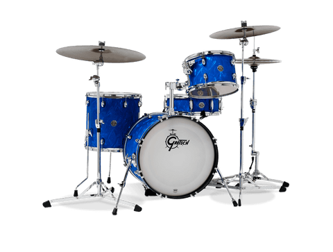 "Gretsch Catalina Club 18"" Jazz LTD Edition Blue Satin Flame Shell Pack Drum Kit inc Snare Drum"