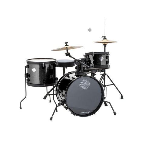 Ludwig Questlove Pocket LC178X016 Black Drum Kit (Inc Free Online Drum Lesson)