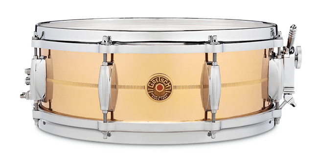 "This is a picture of a GRETSCH USA G4000 Snare Drum 14"" x 5"" Bronze"