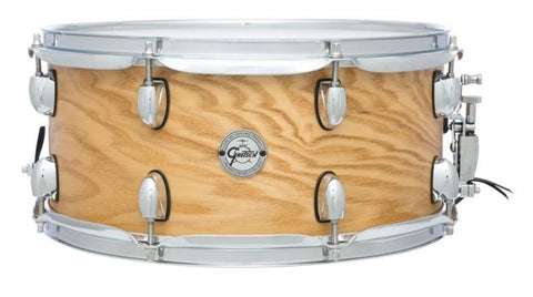 "This is a picture of a GRETSCH Full Range Snare Drum 14"" x 6.5"" Ash Natural"