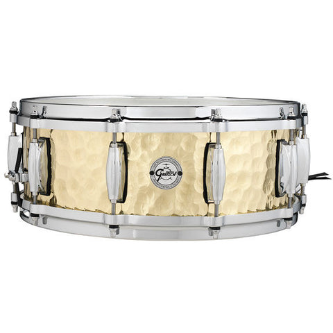 "This is a picture of a GRETSCH Full Range Snare Drum 14"" x 5"" Hammered Brass"