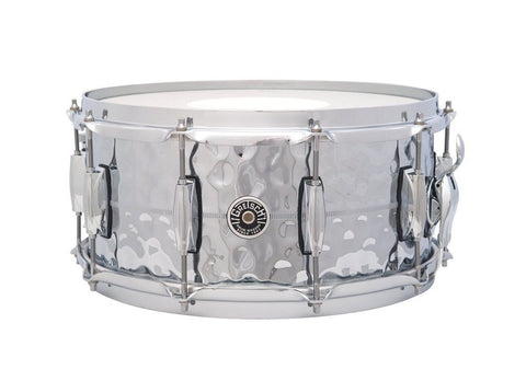 "This is a picture of a GRETSCH USA Brooklyn Snare Drum Hammered COB 14"" x 6.5"""