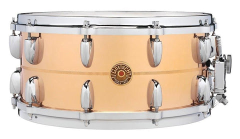"This is a picture of a GRETSCH USA G4000 Snare Drum 14"" x 6.5"" Bronze"