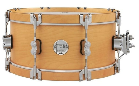 "PDP by DW PDCC6514SSNN Concept Classic 14 x 6.5"" Natural with Natural Hoops Snare Drum"