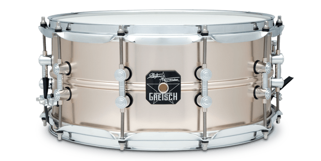 "This is a picture of a GRETSCH Full Range Snare Drum 14"" x 6.5 Steve Ferrone"