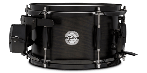 "This is a picture of a GRETSCH Full Range Snare Drum 10"" x 6"" Ash Black"