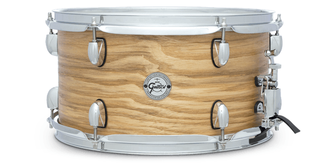 "This is a picture of a GRETSCH Full Range Snare Drum 13"" x 7"" Ash Natural"
