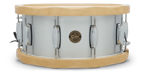 "This is a picture of a GRETSCH Full Range Snare Drum 14"" x 6.5"" Aluminum 13-Ply Hoops"