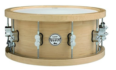 "PDP by DW Concept Maple Thick Wood Hoop 14""x6.5"" Snare Drum"