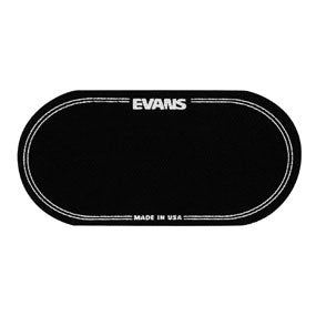 This is a picture of a Evans EQ Double Pedal Patch Black Nylon
