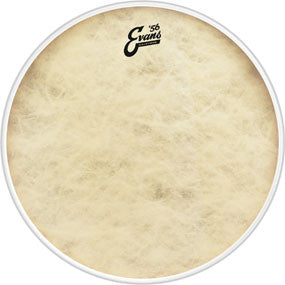 "This is a picture of a Evans 22"" Calftone Bass Drum Head"