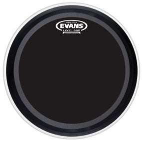 This is a picture of a Evans EMAD Onyx Bass Drum Head 26""
