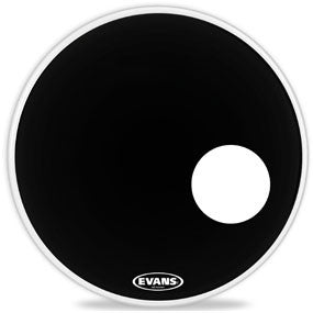 This is a picture of a Evans EQ3 Resonant Black Bass Drum Head 20""
