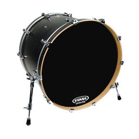 Evans EQ3 Resonant Black Bass Drum Head No Port 26"