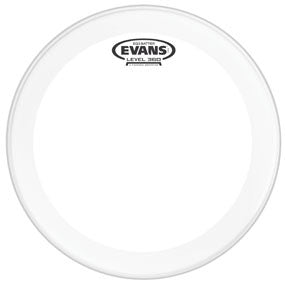 This is a picture of a Evans EQ3 Clear Bass Drum Head 22""