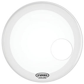 This is a picture of a Evans EQ3 Resonant Coated White Bass Drum Head 18""