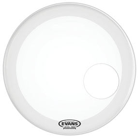 This is a picture of a Evans EQ3 Resonant Smooth White Bass Drum Head 26""