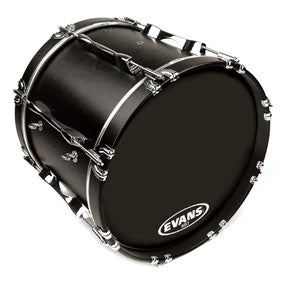 Evans MX1 Black Marching Bass Drum Head 24"
