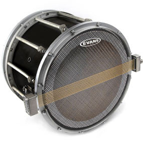 This is a picture of a Evans Hybrid Series Marching Snare Side Drum Head 13""