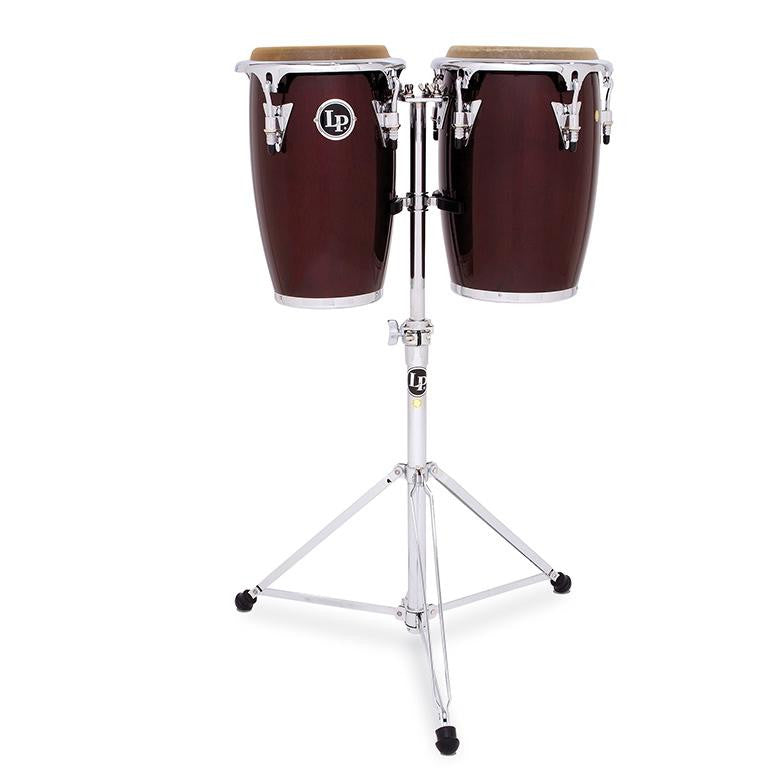 This is a picture of a LP Junior Conga Set Wood Wine Red