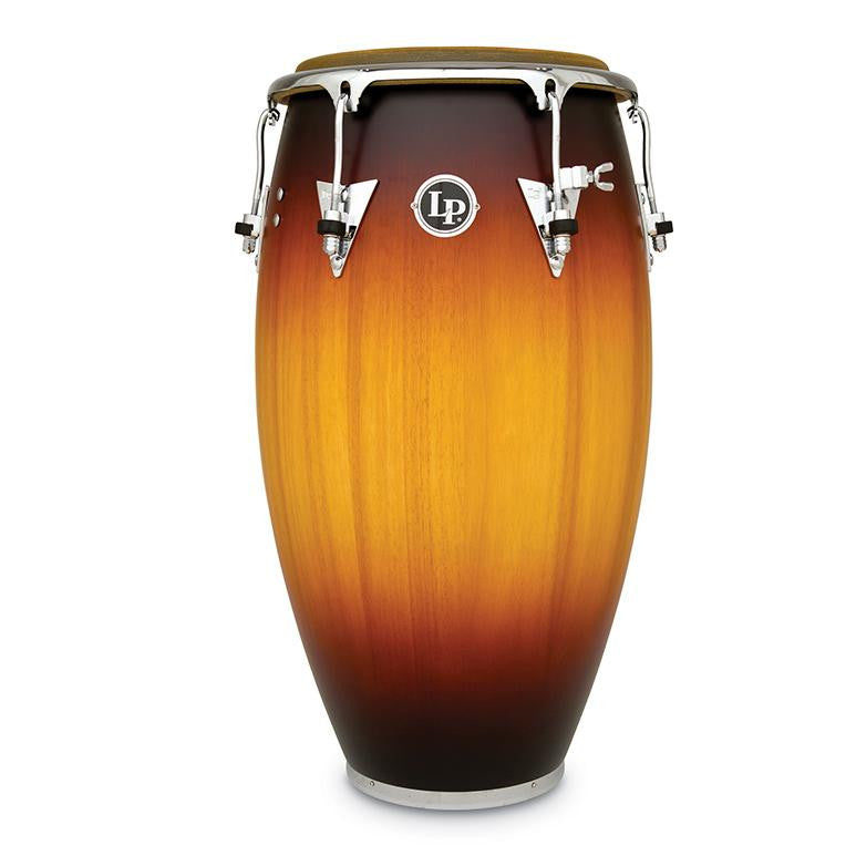 This is a picture of a LP Classic Wood 12 1/2'' Tumba Antique Sunburst Matte