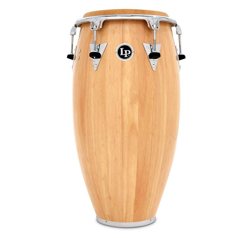 This is a picture of a LP Classic Wood Top Tuning 11'' Quinto Natural Chrome Hardware
