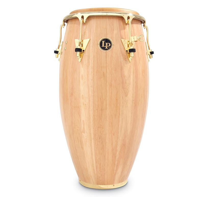 This is a picture of a LP Classic Wood 11 3/4'' Conga Natural Gold Hardware