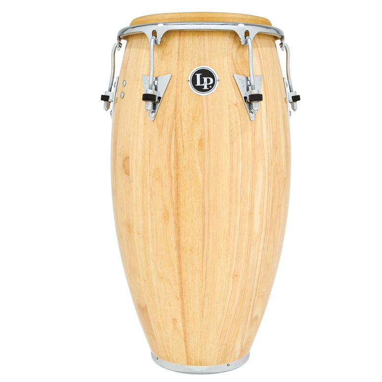 This is a picture of a LP Classic Wood 12 1/2'' Tumba Natural Chrome Hardware