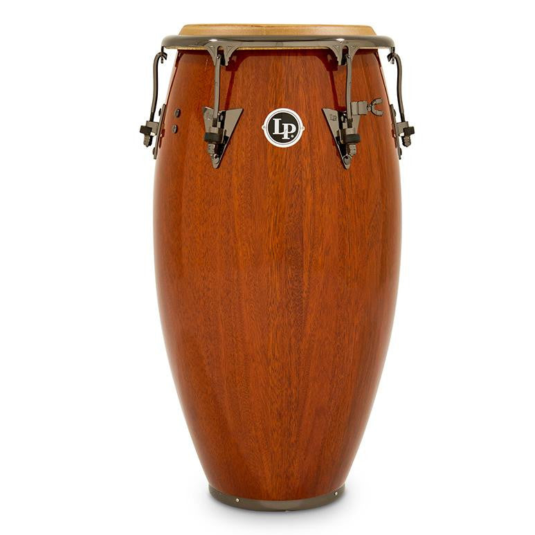 This is a picture of a LP Classic Durian Wood 11'' Quinto Natural Durian Black Nickel