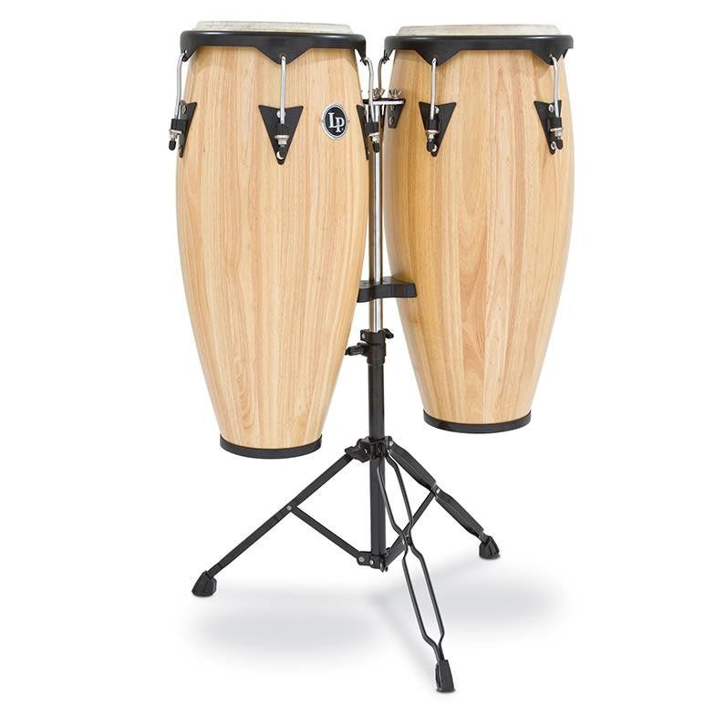 This is a picture of a LP City Wood Conga Set 10'' & 11'' Natural