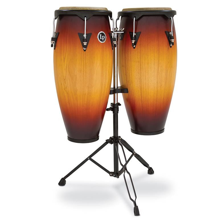 This is a picture of a LP City Wood Conga Set 10'' & 11'' Vintage Sunburst