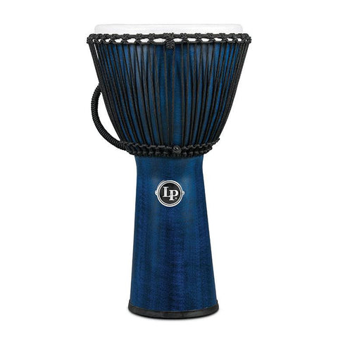 This is a picture of a Djembe World Beat FX Rope Tuned, 11-Inch, Blue