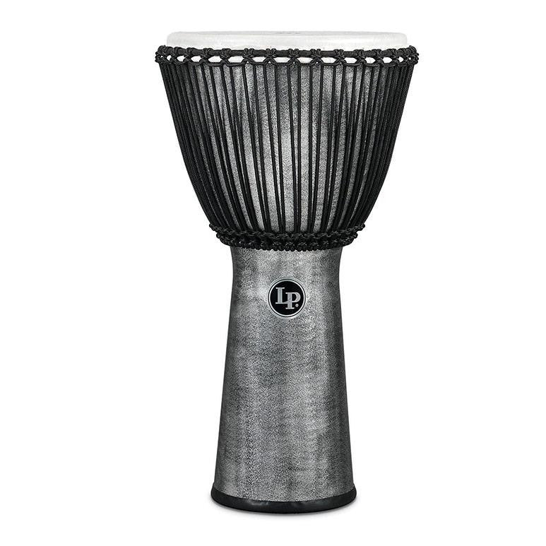 This is a picture of a Djembe World Beat FX Rope Tuned, 11-Inch, Gray