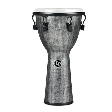 This is a picture of a Djembe World Beat FX Mechanically Tuned, 11-Inch, Gray