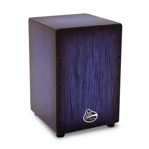 This is a picture of a LP Aspire Accent Cajon Blueburst Streak