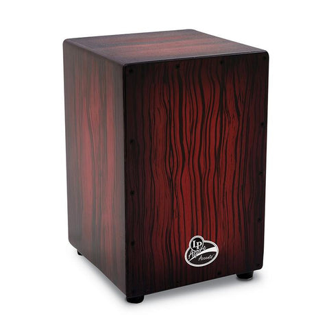 This is a picture of a LP Aspire Accent Cajon Darkwood Streak
