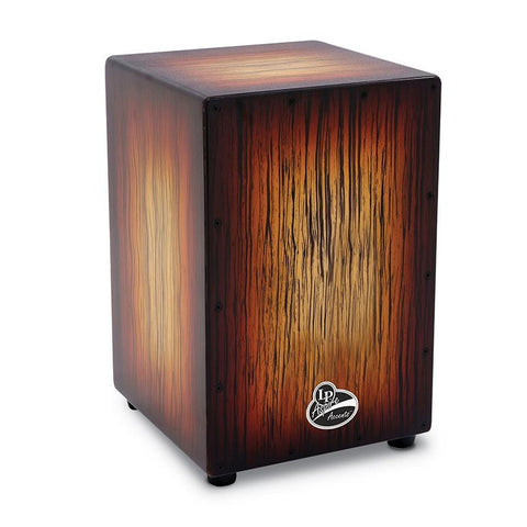 This is a picture of a LP Aspire Accent Cajon Sunburst Streak