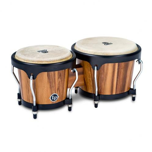 This is a picture of a LP Aspire Wood Bongos Walnut
