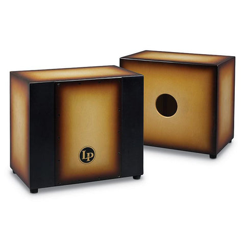 This is a picture of a Cajon Matador Triple Percussion, Vintage Sunburst