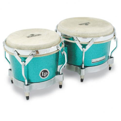 This is a picture of a LP Matador Fiberglass Bongo Green Glitter