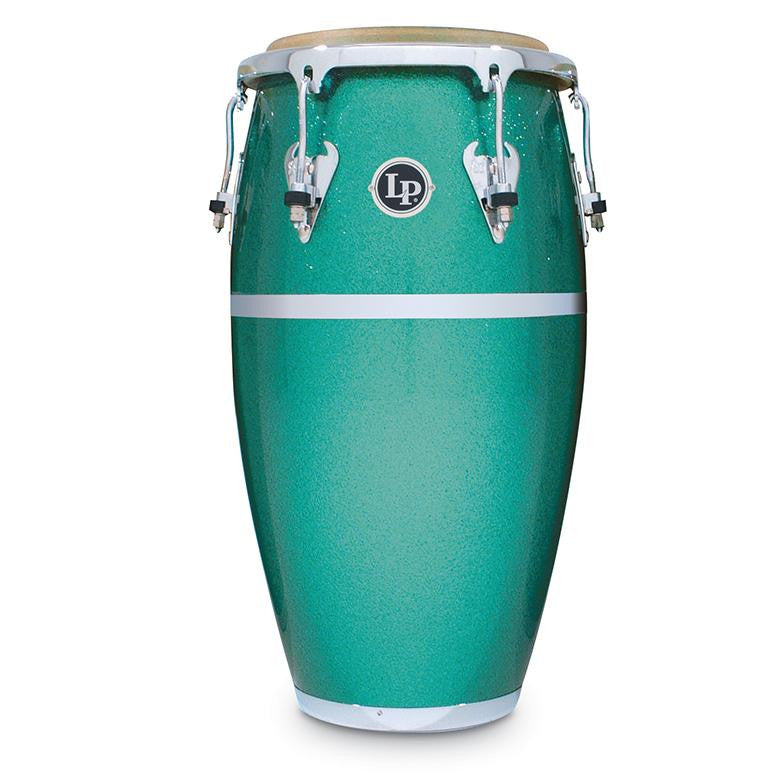 This is a picture of a LP Matador Fiberglass 11 3/4'' Conga Green Glitter