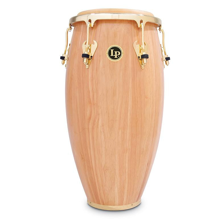 This is a picture of a LP Matador Wood 11 3/4'' Conga Natural Gold Hardware