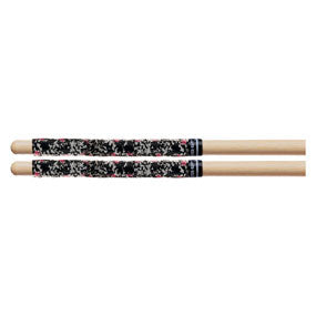 This is a picture of a ProMark SR3BLA Black Splatter Stick Rapp